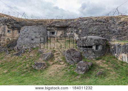 Fort Douaumont at First World War One battlefield near Verdun in France