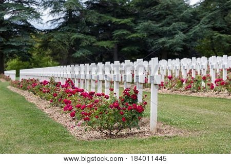 Cemetery for First World War One soldiers who died at Battle of Verdun