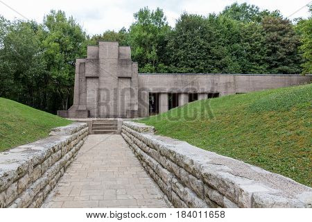 French First World War One memorial Trench of Bayonets at Douaumont