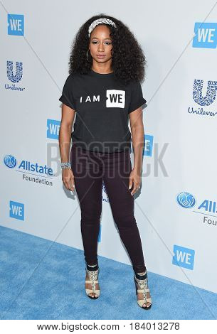 LOS ANGELES - APR 18:  Monique Coleman arrives for the WE Day California 2017 on April 27, 2017 in Inglewood, CA