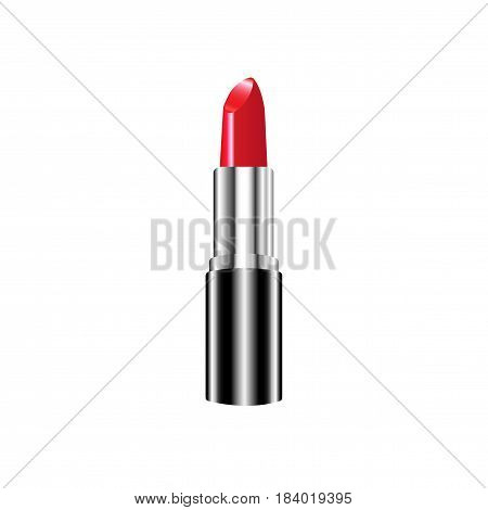 Red Lipstick. Makeup collection. Vector template isolated