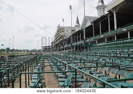 Churchill Downs, Louisville, Kentucky, opening seating area, May 27th, 2016