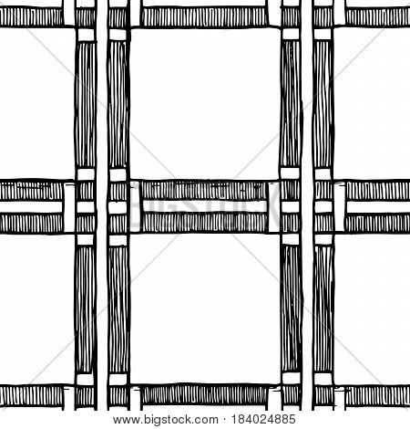 Square. The simple seamless vintage geometric pattern of squares.