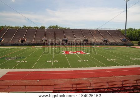 Miami University Yager Football Stadium view from home side, May 30th, 2016