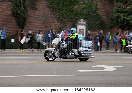 Motorcycle Cop, Chicago Marathon, October 9th, 2016