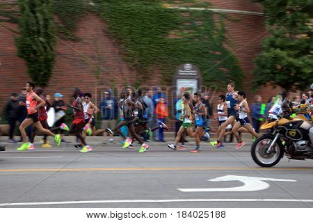 Chicago Marathon, Lead Runners Group, October 9th, 2016