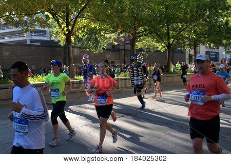 Chicago Marathon on LaSalle Boulevard, October 9th, 2016