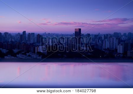 Sunrise in Sao Paulo Brazil. from a top view