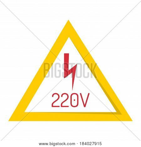 Prohibition sign industry production vector illustration warning danger symbol forbidden safety information and protection no allowed caution information. Yellow red risk circle.