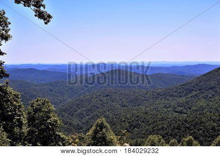 Blue Ridge Mountains in Western North Carolina.
