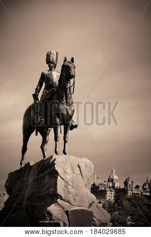 The Royal Scots Greys Monument in Edinburgh.