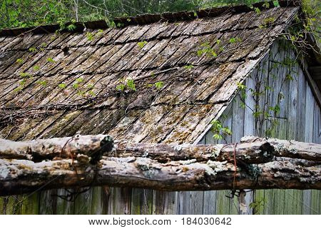 Wood Shake Roof on an old Grist Mill.