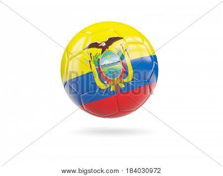 Football With Flag Of Ecuador