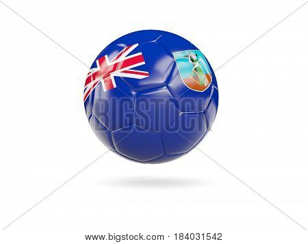 Football With Flag Of Montserrat