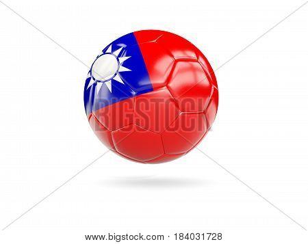 Football With Flag Of Taiwan