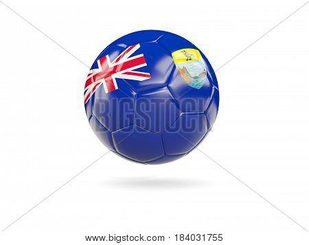 Football With Flag Of Saint Helena