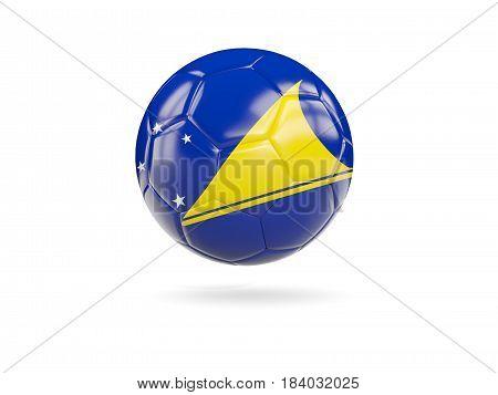 Football With Flag Of Tokelau