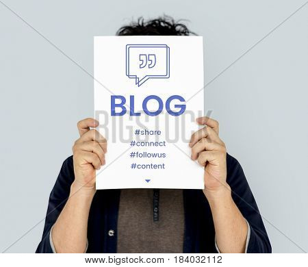 Blog Speech Bubble with Quotation Mark