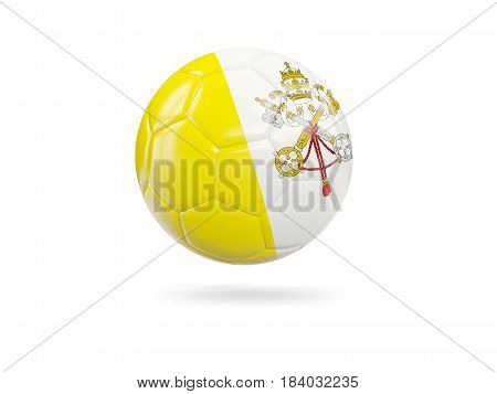 Football With Flag Of Vatican City