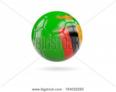 Football With Flag Of Zambia