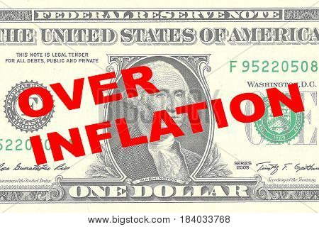 Over Inflation - Financial Concept