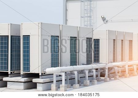 Condenser Unit Used In Central Air Conditioning Systems.