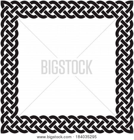 Patten frame executed in black-and-white color. Vector illustration.