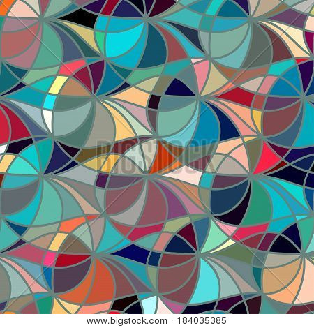 Abstract color background of doodle hand drawn lines. Colorful floral pattern. Wave wallpaper