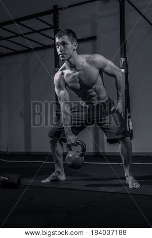 Bodybuilding, Flat Bench, Kettle Bell Exercise