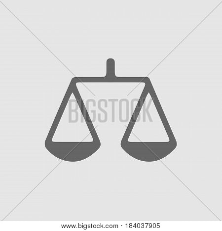 Law symbol vector eps 10. Weight icon.