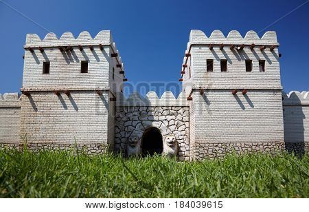 Miniaturk, Istanbul, A Reconstruction Of The Lion Gate In The South-west Of Hattusa, Hittite Empire
