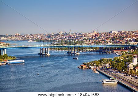 View From The Hill Of Pierre Loti To The Golden Horn, Istanbul