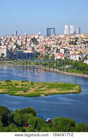 The View From The Hill Of Pierre Loti To The Golden Horn And Sutluce, Istanbul