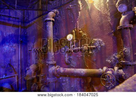 The Interior Of The Sunken Ship. Istanbul Aquarium.