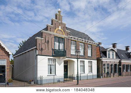 NETHERLANDS - LEMMER - MEDIA APRIL 2017: Historic building in the city of Lemmer in Friesland Netherlands.
