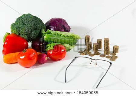 Lack Of Pension On Vegetables Older People Concept