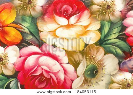 Flowers Oil Painting Impressionism style Still life art colored color image wallpaper and backgrounds canvas artist painting floral pattern