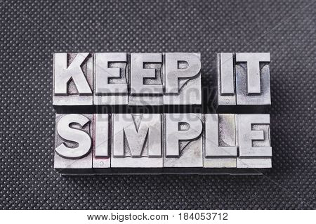 Keep It Simple Bm