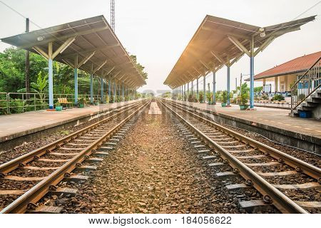 Rail track way station transport in thailand