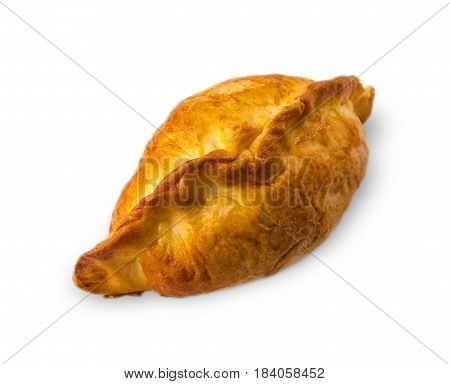 Small pie with stuffing pn white background