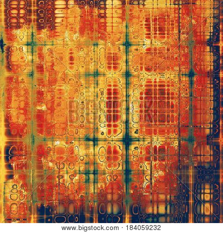 Beautiful retro background, nice looking ancient texture with different color patterns: yellow (beige); brown; blue; gray; red (orange)