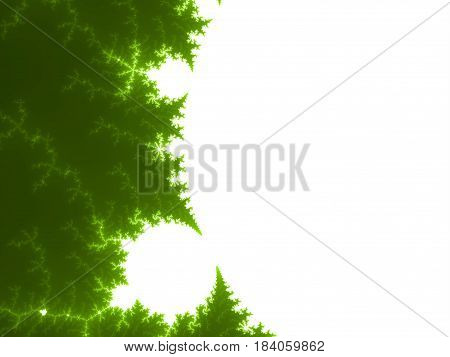 Yellow Green Fractal Background