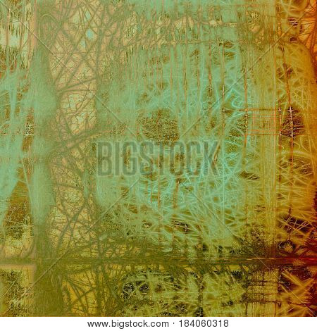 Glamour vintage frame, decorative grunge background. Aged texture with different color patterns: yellow (beige); brown; green; blue; gray; red (orange)
