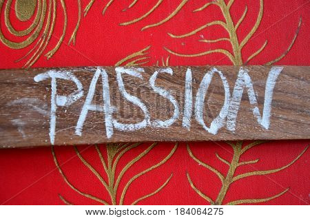 passion word on a  abstract bcolorful background
