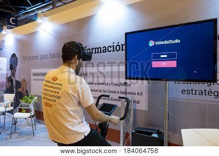 Madrid, Spain. 26 May 2017..Omexpo 2017 digital marketing fair, held in the Ifema pavilions of Madrid