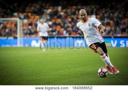 VALENCIA, SPAIN - APRIL 26: Simone Zaza during La Liga match between Valencia CF and Real Sociedad at Mestalla Stadium on April 26, 2017 in Valencia, Spain