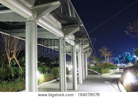 Kai Tak Runway Park At Night