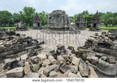 Prambanan Is A Hindu Temple Compound In Java On Indonesia