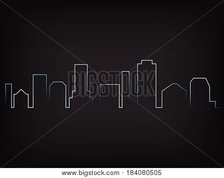Imaginary Urban City Skyline Vector