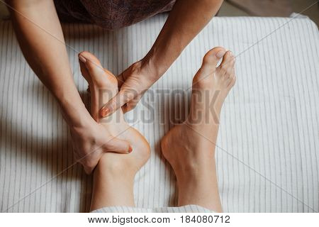 Left Foot Massage With Both Hands